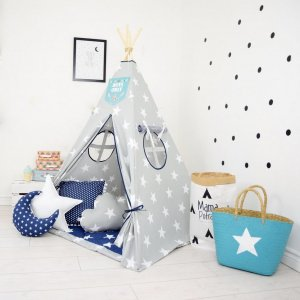 Add the perfect touch to your child's room with the Navy Sailor Children's Teepee Tent. Let your little enjoy their own teepee for hours of play time and imagination.