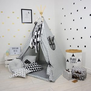 Add the perfect touch to your child's room with the New York Children's Teepee Tent. Let your little enjoy their own teepee for hours of play time and imagination.