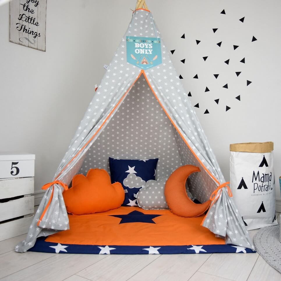 Add the perfect touch to your childu0027s room with the Orange Candy Childrenu0027s Teepee Tent. & ORANGE CANDY CHILDRENu0027S TEEPEE TENT | Decorative Kidsu0027 Play Tents ...