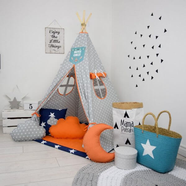 Orange Candy Children's Teepee Tent