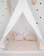 Add the perfect touch to your child's room with the Soft Pink Children's Teepee Tent. Let your little enjoy their own teepee for hours of play time and imagination.