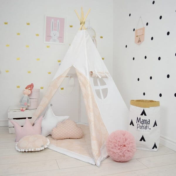 Soft Pink Children's Teepee Tent