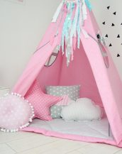 Add the perfect touch to your child's room with the Sweet Pink Children's Teepee Tent. Let your little enjoy their own teepee for hours of play time and imagination.