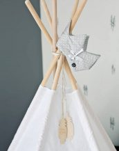 A perfect hideaway for tiny people, the White Mist Children's Play Teepee gives your little one the space they need to let their imagination flow.