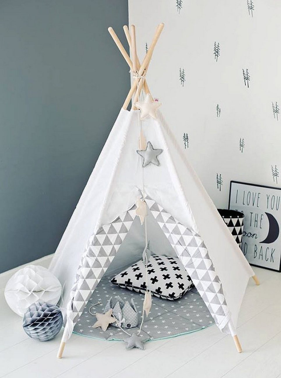 White Mist Children's Play Teepee