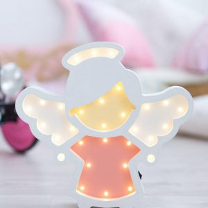 With a charming design, the Angel Wooden Night Light provides a reassuring glow for your little one, making it perfect for a nursery or kids room nightlight, or an interesting addition to any other space.