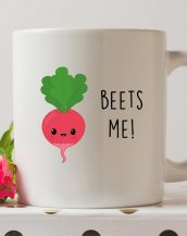 Sip your favourite tea or coffee with the Beets Me Coffee Mug that makes a fantastic present or a little treat for yourself.