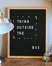 Individually gift boxed and supplied with a selection of letters and numbers, the Black Felt Letterboard can display a funny message, a love note or let everyone know where the party is at!