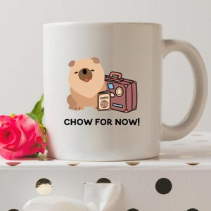 Sip your favourite tea or coffee with the Chow For Now Coffee Mug that makes a fantastic present or a little treat for yourself.