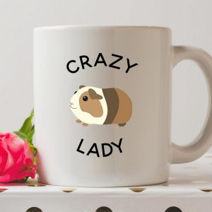 Sip your favourite tea or coffee with the Crazy Guinea Pig Lady Coffee Mug that makes a fantastic present or a little treat for yourself.