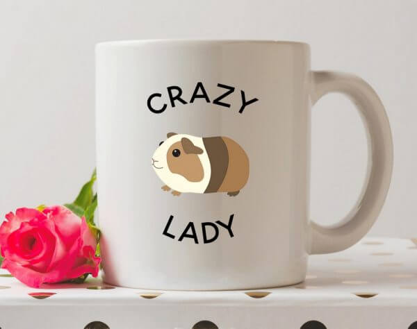 Crazy Guinea Pig Lady Coffee Mug