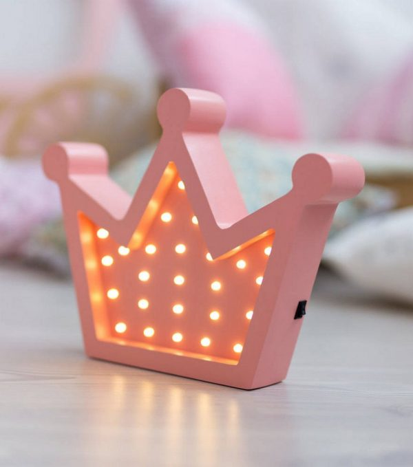Crown Wooden Night Light – Rose – 4