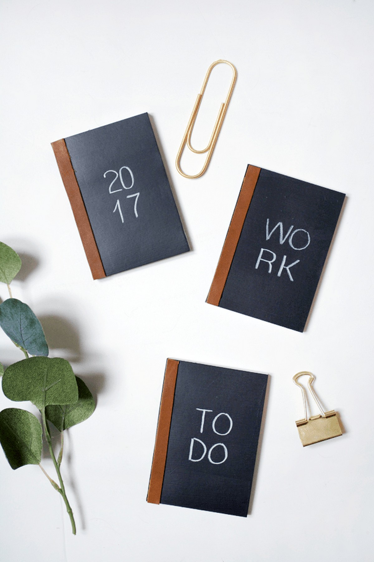 Plan out your new year's goals and to do lists in these cute little Chalkboard Notebooks!
