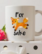 Sip your favourite tea or coffee with the For Fox Sake Coffee Mug that makes a fantastic present or a little treat for yourself.