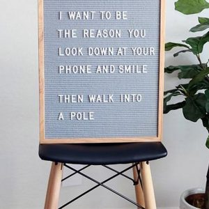 Individually gift boxed and supplied with a selection of letters and numbers, the Grey Felt Letterboard can display a funny message, a love note or let everyone know where the party is at!