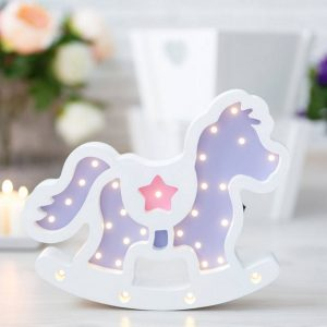 With a charming design, the Horse Wooden Night Light provides a reassuring glow for your little one, making it perfect for a nursery or kids room nightlight, or an interesting addition to any other space.
