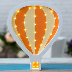 With a charming design, the Hot Air Balloon Wooden Night Light provides a reassuring glow for your little one, making it perfect for a nursery or kids room nightlight, or an interesting addition to any other space.