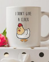 Sip your favourite tea or coffee with the I Don't Give A Cluck Coffee Mug that makes a fantastic present or a little treat for yourself.