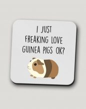 Sip your favourite tea or coffee with the I Just Freaking Love Guinea Pigs, Ok? - Coffee Mug that makes a fantastic present or a little treat for yourself.