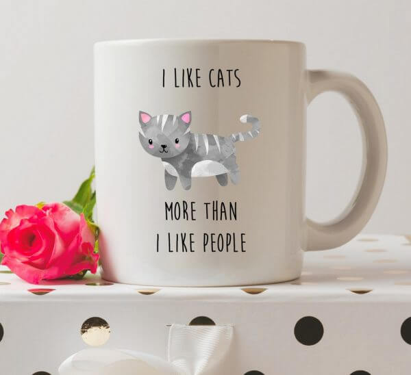 I Like Cats More Than I Like People Coffee Mug