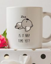 Sip your favourite tea or coffee with the Is It Nap Time Yet? Koala Coffee Mug that makes a fantastic present or a little treat for yourself.