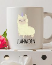 Sip your favourite tea or coffee with the Llamacorn Coffee Mug that makes a fantastic present or a little treat for yourself.
