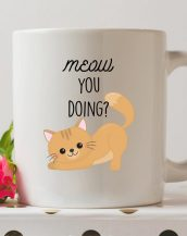 Sip your favourite tea or coffee with the Meow You Doing Coffee Mug that makes a fantastic present or a little treat for yourself.