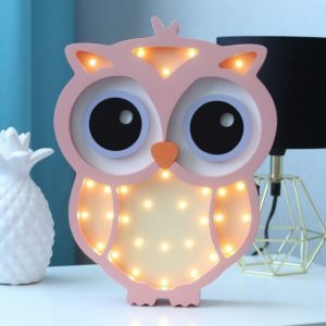 With a charming design, the Owl Wooden Night Light provides a reassuring glow for your little one, making it perfect for a nursery or kids room nightlight, or an interesting addition to any other space.