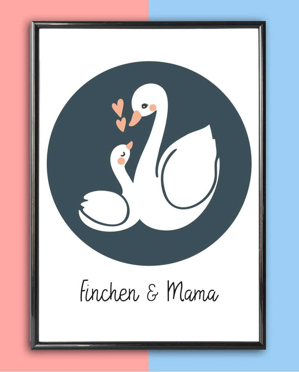 Personalised Mother's Day Print – Swans_2