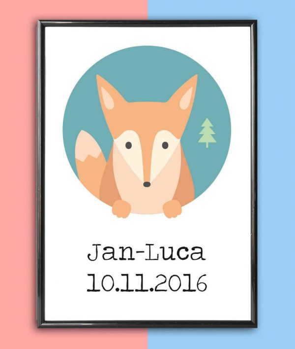 Personalised Name Print Fox_2