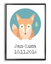 Add some effortless style to your home with the Personalised Wedding Print - Fox that will compliment your interior décor.