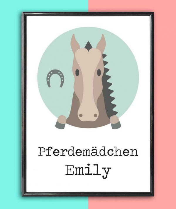 Personalised Name Print Horse_2
