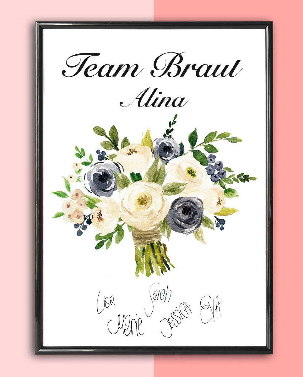 Personalised Wedding Print – Bridal Bouquet_2