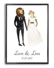 Add some effortless style to your home with the Personalised Wedding Print - Lion that will compliment your interior décor.