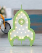 With a charming design, the Rocket Wooden Night Light provides a reassuring glow for your little one, making it perfect for a nursery or kids room nightlight, or an interesting addition to any other space.