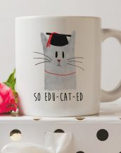 Sip your favourite tea or coffee with the So Educated Cat Graduation Coffee Mug that makes a fantastic present or a little treat for yourself.