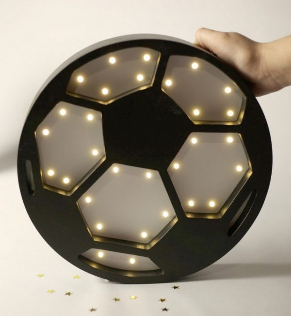 Soccer Ball Wooden Night Light – 4