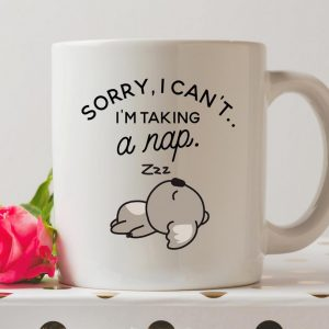 Sip your favourite tea or coffee with theSorry I Can't I'm Taking A Nap Coffee Mug that makes a fantastic present or a little treat for yourself.