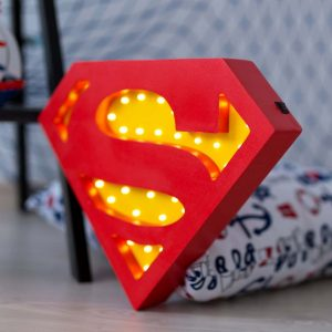 With a charming design, the Superman Wooden Night Light provides a reassuring glow for your little one, making it perfect for a nursery or kids room nightlight, or an interesting addition to any other space.