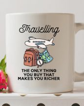 Sip your favourite tea or coffee with the Travelling Coffee Mug that makes a fantastic present or a little treat for yourself.