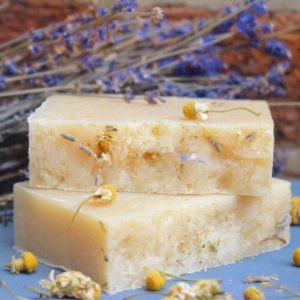 A real treat for your washtime, the Chamomile Lavender Clary Sage Handmade Soap is extremely mild on the skin with rich and super creamy lather.