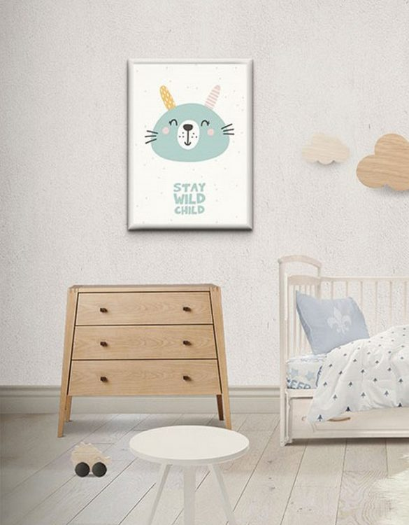 Perfect for any room in the home, the Children's Poster - Stay wild child is a great piece of daily inspiration for your walls.