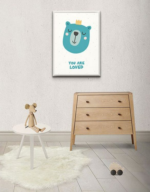 Perfect for any room in the home, the Children's Poster - You are loved is you is a great piece of daily inspiration for your walls.