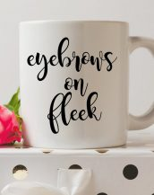 Sip your favourite tea or coffee with the Eyebrows On Fleek Coffee Mug that makes a fantastic present or a little treat for yourself.