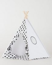 Let your little ones create their own little world with the Monochrome Cross Children's Teepee Set. It creates the perfect setting for imaginative role play providing endless hours of fun.