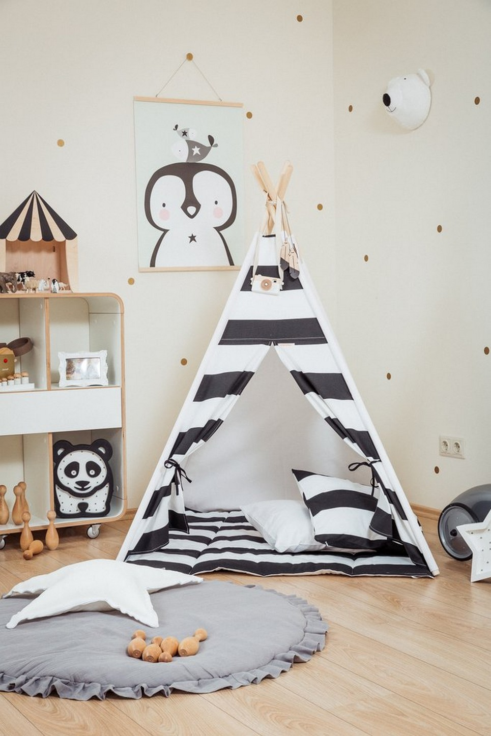 MONOCHROME STRIPES CHILDREN\'S TEEPEE SET | Kids\' Teepee Tents by A ...