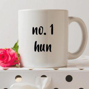 Sip your favourite tea or coffee with the Number 1 Hun Coffee Mug that makes a fantastic present or a little treat for yourself.