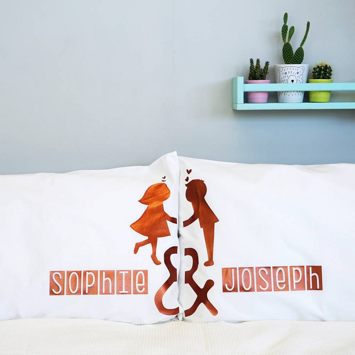 Whether you're looking to transform comfy bed pillows or decorative throw pillows, having your own personalised pillow cases will add perfect finishing touch to your bedding. It can also be a lot of fun!