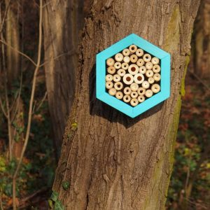 Designed to look wonderful in a garden, the Bee Hotel Turquoise is an ideal gift for a gardener or a wildlife enthusiast as well as anyone with a garden who is interested in garden design.