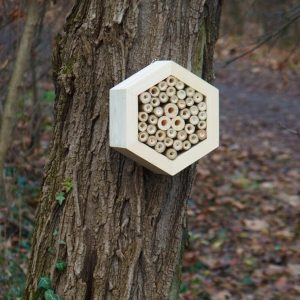 Designed to look wonderful in a garden, the Bee Hotel Woody is an ideal gift for a gardener or a wildlife enthusiast as well as anyone with a garden who is interested in garden design.